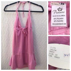 Pualani Terry Cloth Halter Dress NWT